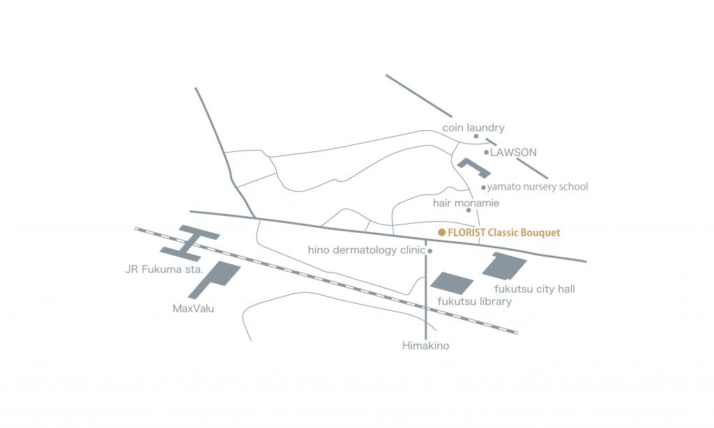 福津花屋地図